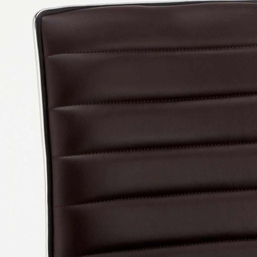 SGA043DET - Sgabello da bar cucina alto fisso girevole regolabile con schienale DETROIT - rosa