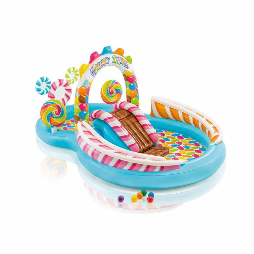 57149 - Piscina per bambini Intex 57149 gonfiabile Candy Play Center - arancione