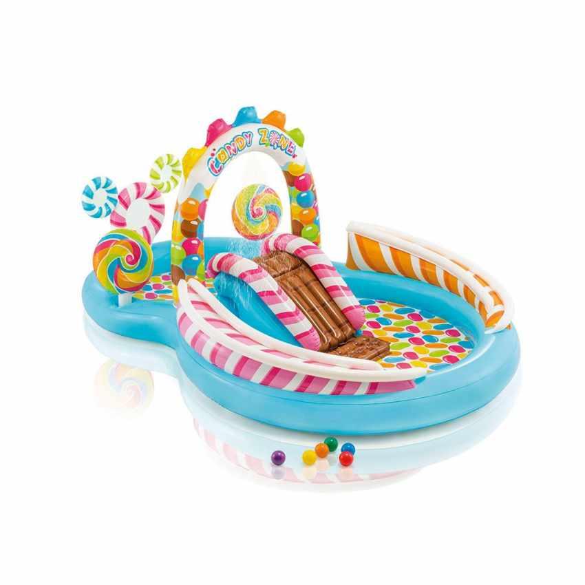 57149 - Piscina per bambini Intex 57149 gonfiabile Candy Play Center - trasparente