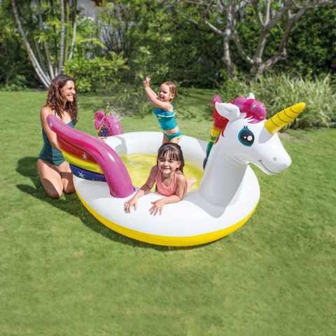 Casette in plastica e giochi gonfiabili per bambini - Unicorno gonfiabile piscina ...