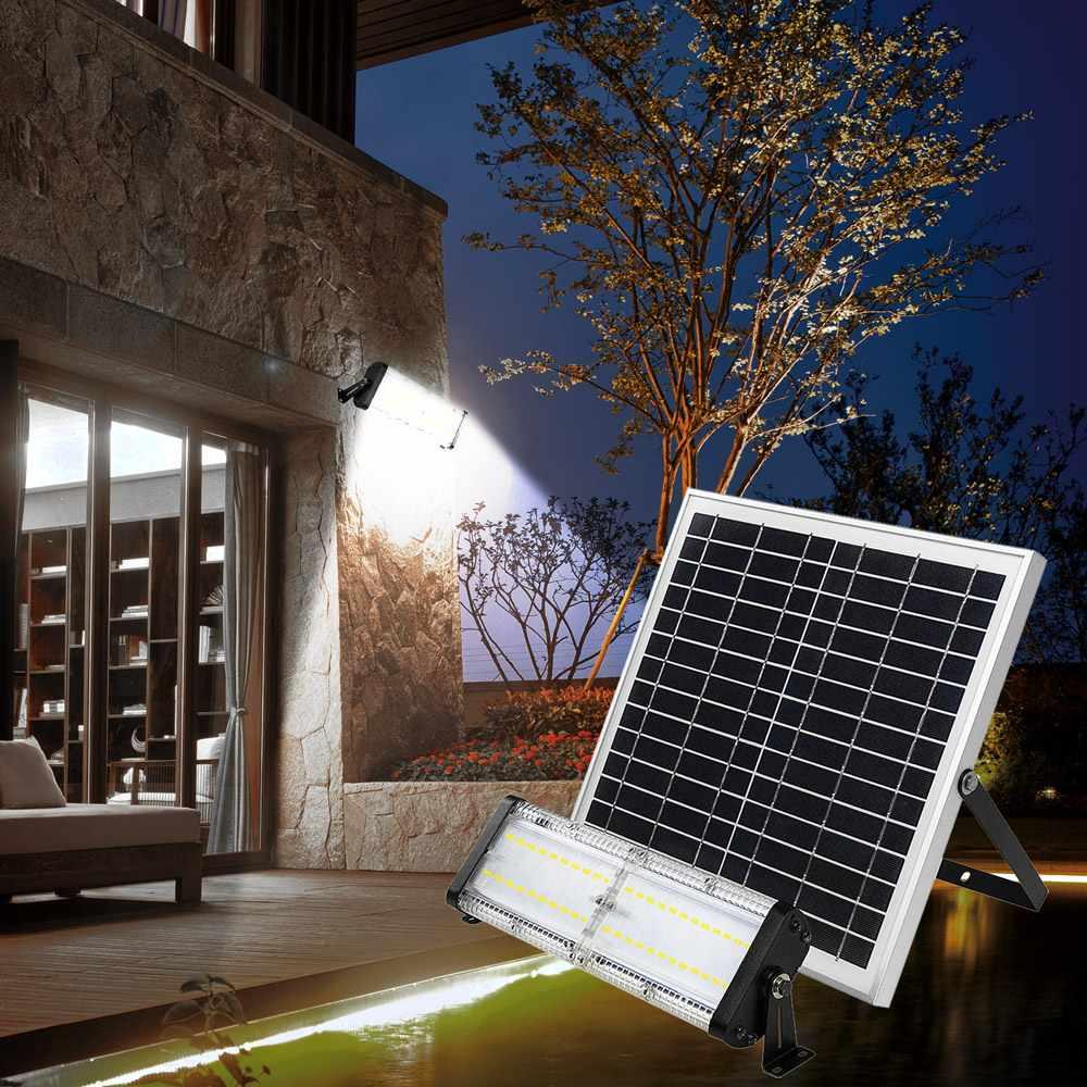 Faretto solare lampione privato senza elettricità