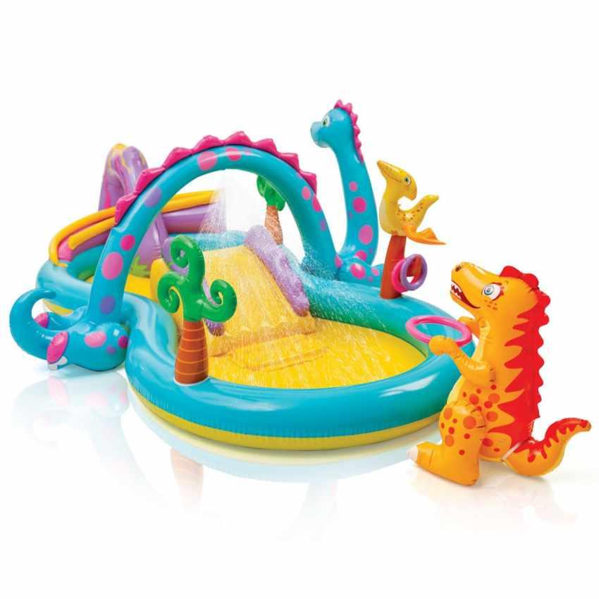 57135 - Piscina gonfiabile bambini Intex 57135 Dinoland Play Center gioco - basso prezzo