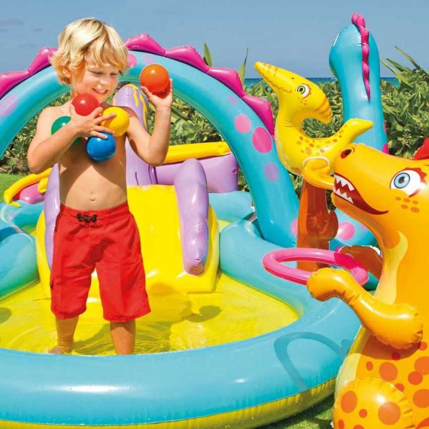 57135 - Piscina gonfiabile bambini Intex 57135 Dinoland Play Center gioco - offerta