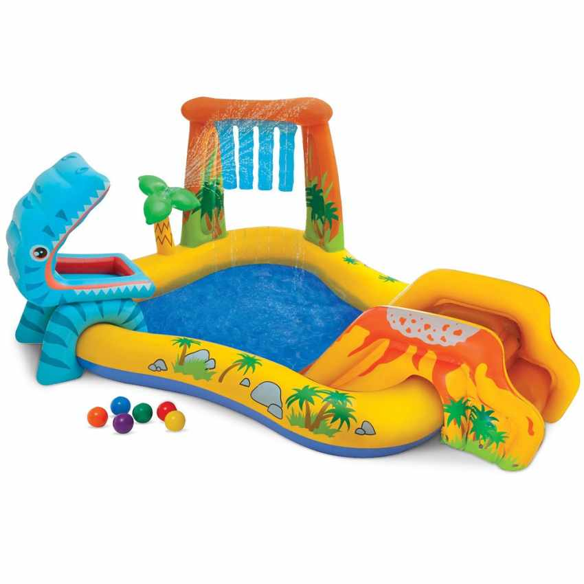 Piscina gonfiabile per bambini dinosaur play center intex for Piscina gonfiabile
