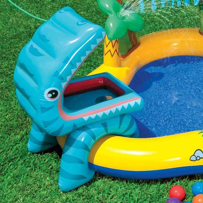 57444 - Piscina gonfiabile bambini Intex 57444 Dinosaur Play Center gioco - scontato