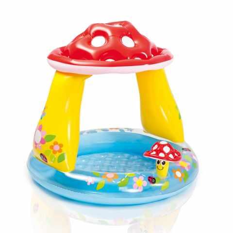 57114 - Piscina gonfiabile bambini Intex 57114 Mushroom baby pool fungo gioco - trasparente