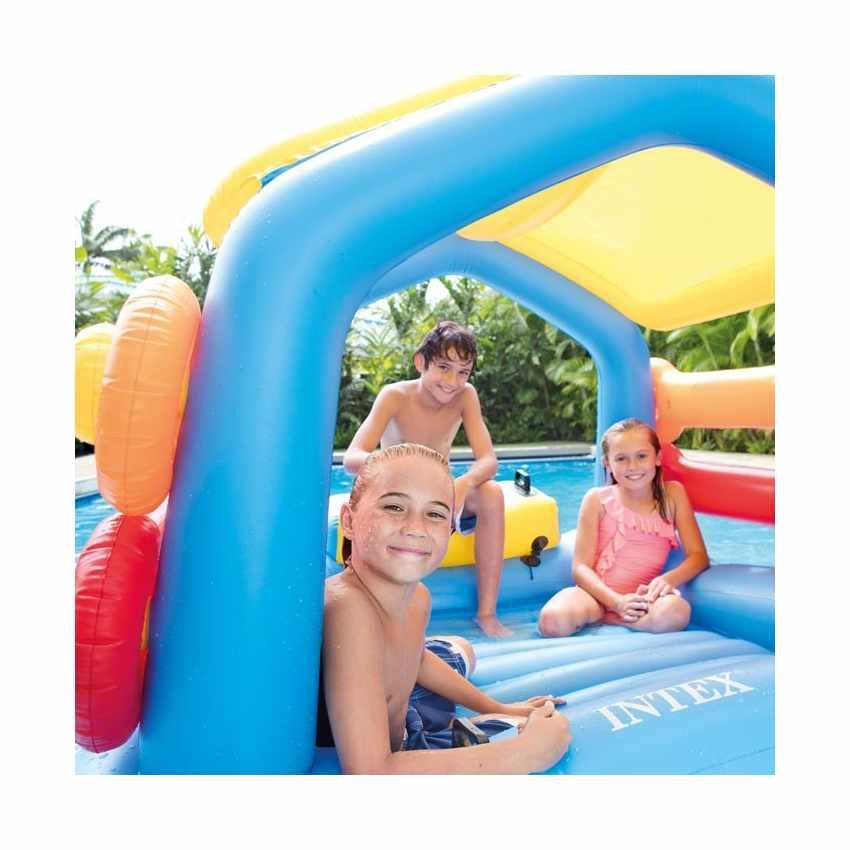 58294 - Intex 58294 isola gonfiabile galleggiante con scivolo per bambini - arancione