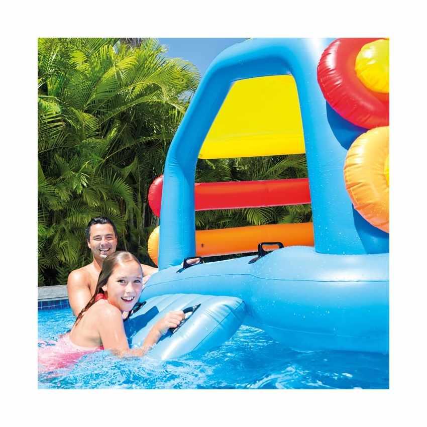 58294 - Intex 58294 isola gonfiabile galleggiante con scivolo per bambini - trasparente