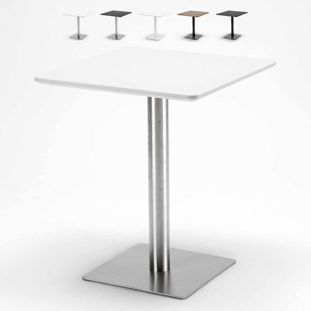 Tavolo Con Piede Centrale tavolino 60x60 quadrato con base centrale per bar bistrot horeca