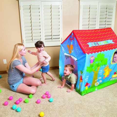 52201 - Casetta gioco per bambini Bestway 52201 montabile per giardino e casa - grigio