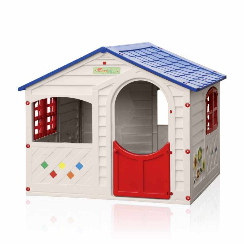 Casetta di plastica per bambini per interni ed esterni for Grande casetta per bambini