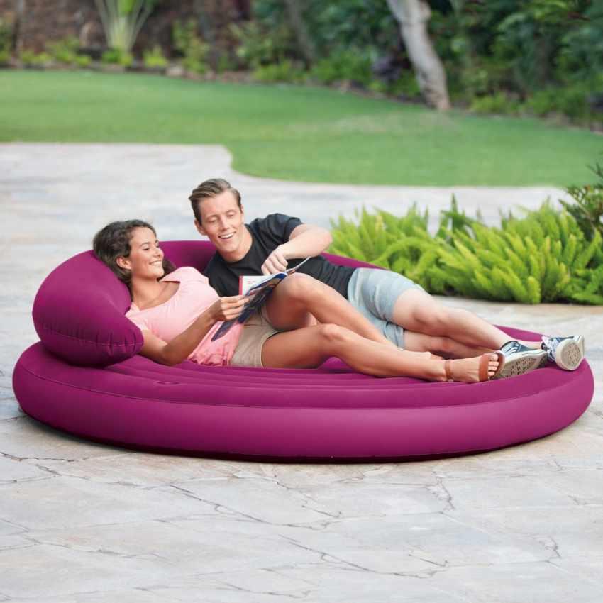 68881 - Divano rotondo gonfiabile Intex 68881 giardino e piscina - colorato