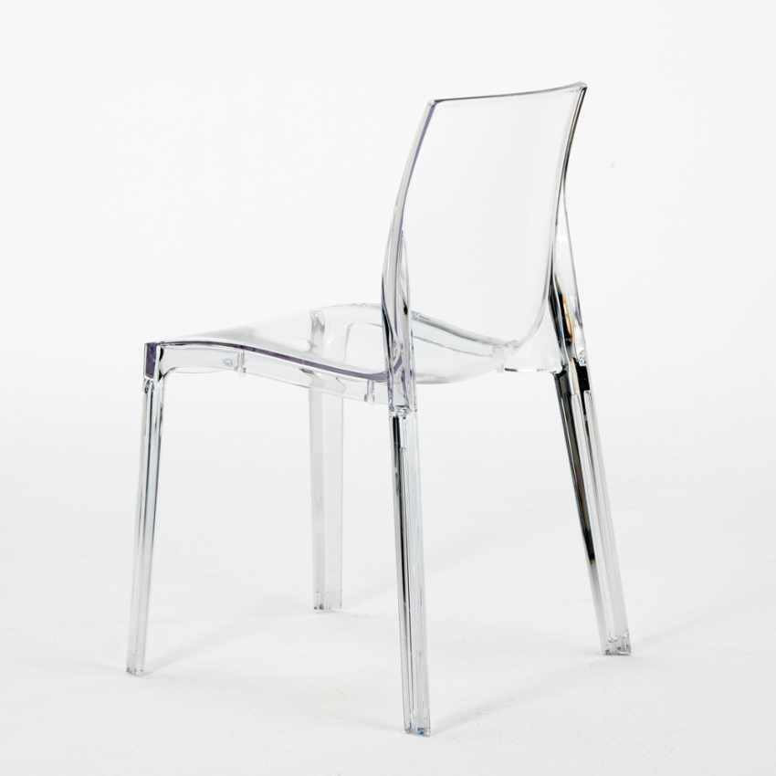 Sedia trasparente impilabile per bar cucina soggiorno for Sedie soggiorno economiche