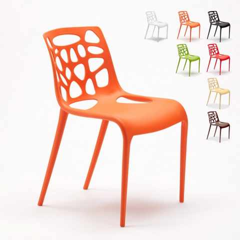 stock sedie gelateria connubia arancione