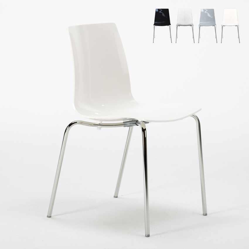 Sedia per salotto cucina bar con gambe in acciaio lollipop - Offerte sedie cucina ...