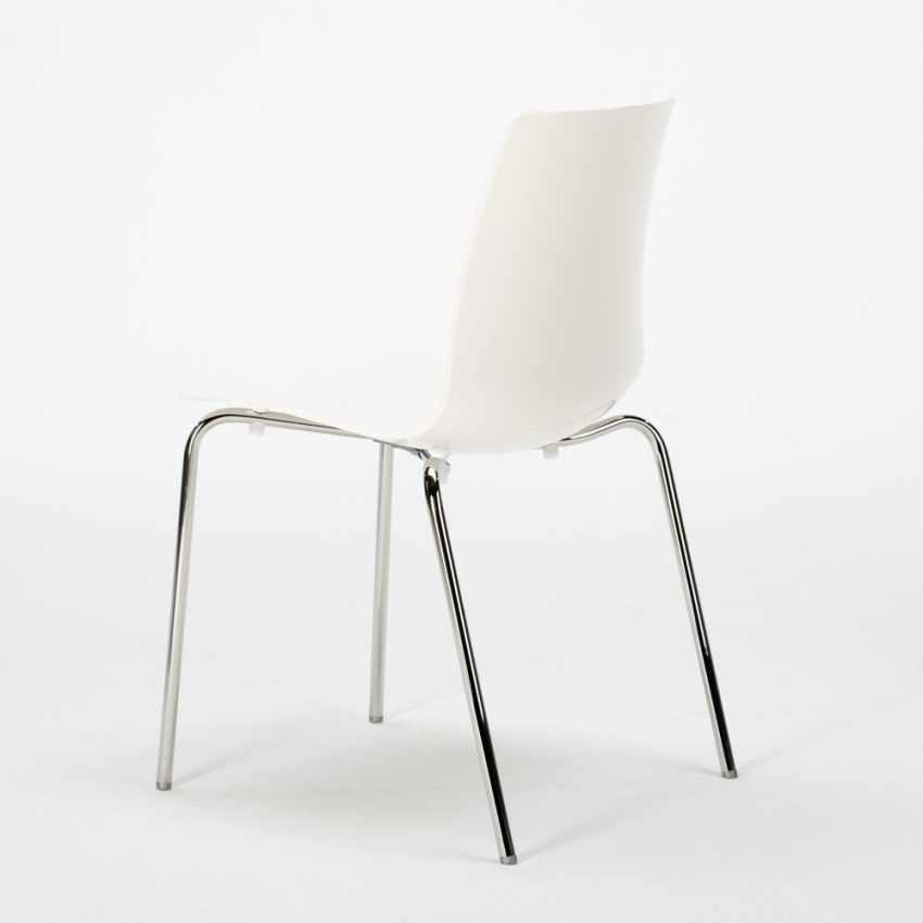 sedia per salotto cucina bar con gambe in acciaio lollipop