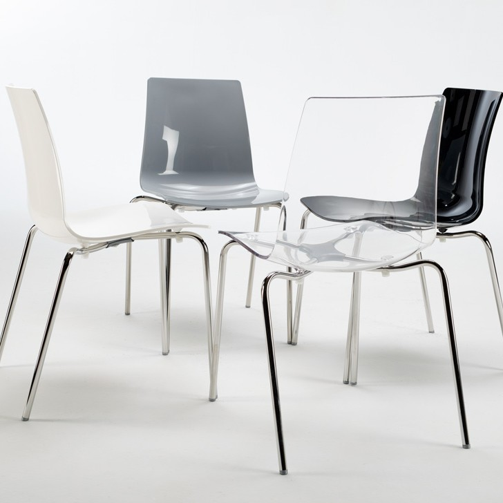 Sedie bar cucina gambe acciaio design moderno impilabile ...