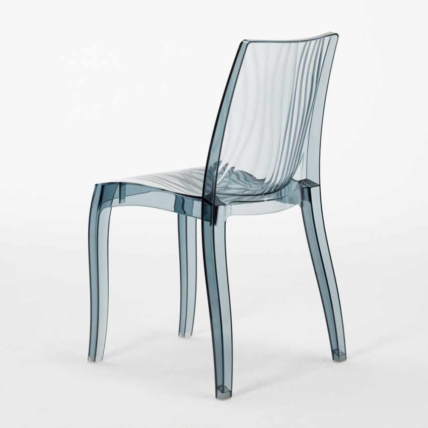 Sedia per cucina bar in policarbonato trasparente for Grand soleil sedie