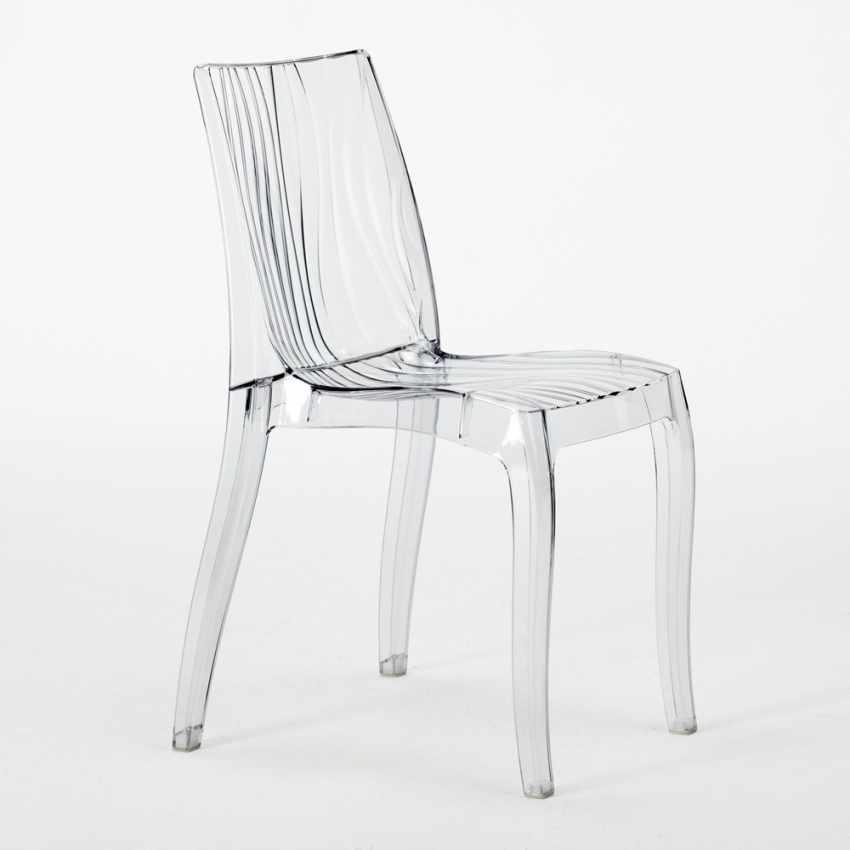 sedia per cucina bar in policarbonato trasparente