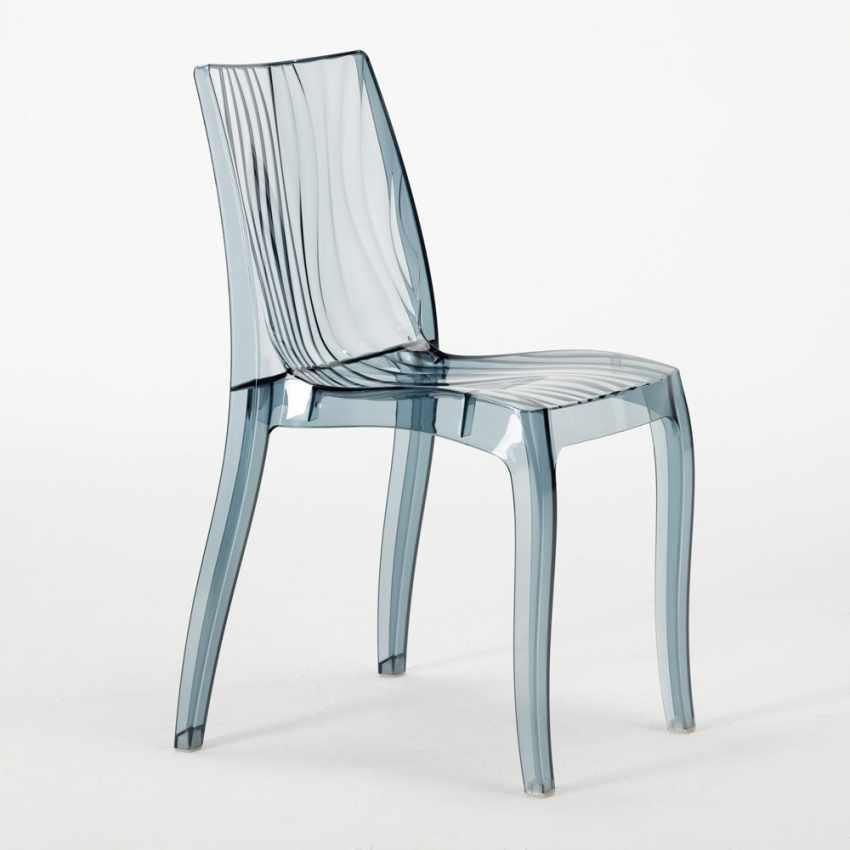 offerta sedie trasparenti nere design moderno lavabili impilabili per bar ristoranti