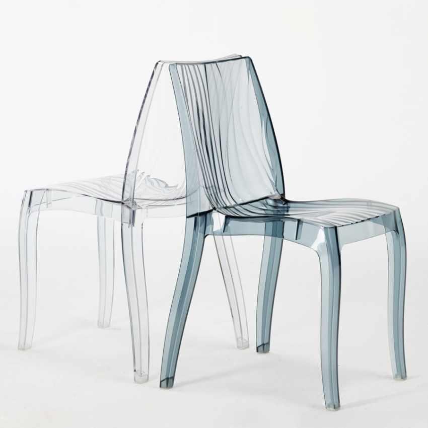 offerta sedie trasparenti per bar ristoranti impilabili lavabili design moderno