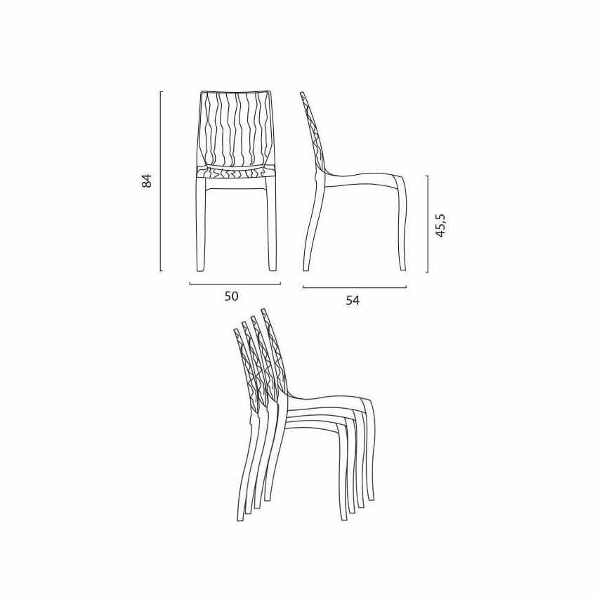 offerta sedie trasparenti nere per bar ristoranti lavabili impilabili