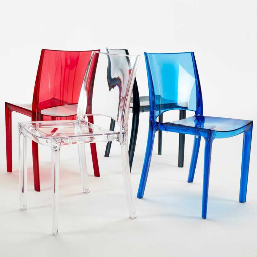 offerta sedie trasparenti dal design moderno per ristoranti bar impilabili lavabili