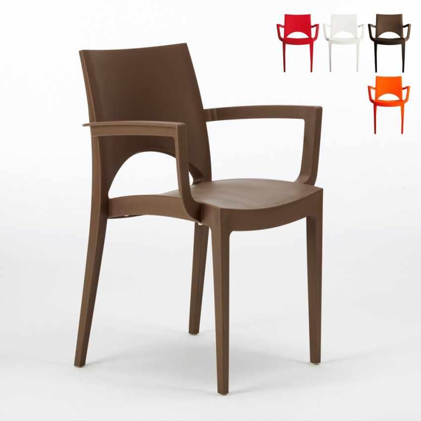 sedia con braccioli impilabile lavabile per cucina