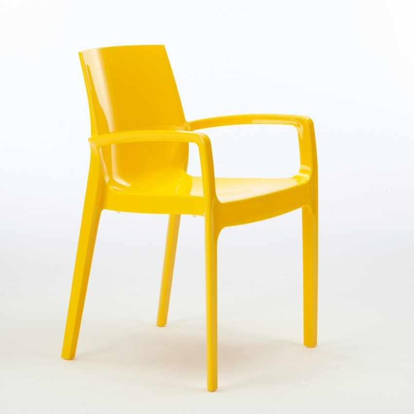 Sedia in polipropilene per bar cucina soggiorno impilabile for Sedie con braccioli