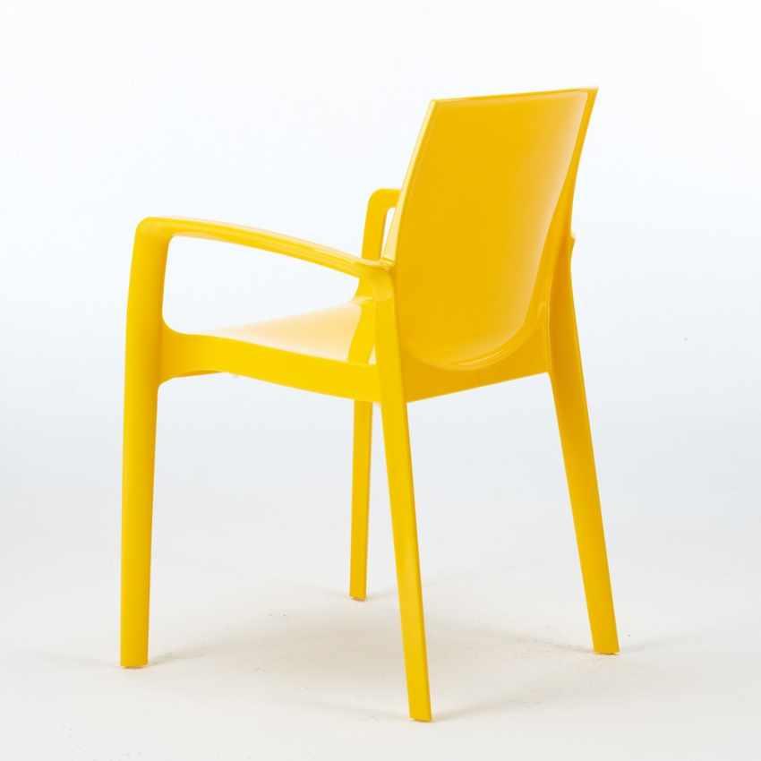 Sedia in polipropilene per bar cucina soggiorno impilabile for Sedie blu cucina