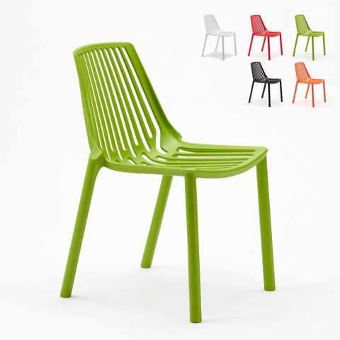 stock sedie ristorante bar line esterno verdi