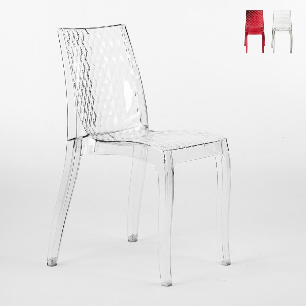 Sedie cucina e bar policarbonato trasparente impilabile HYPNOTIC Grand Soleil