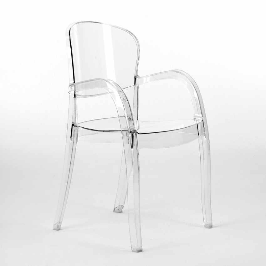 Offerta 20 Sedie Trasparenti per Bar Ristoranti Design Moderno JOKER - dettaglio