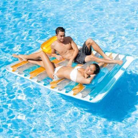 56897 - Intex 56897 materassino galleggiante doppio due posti matrimoniale da piscina - outlet