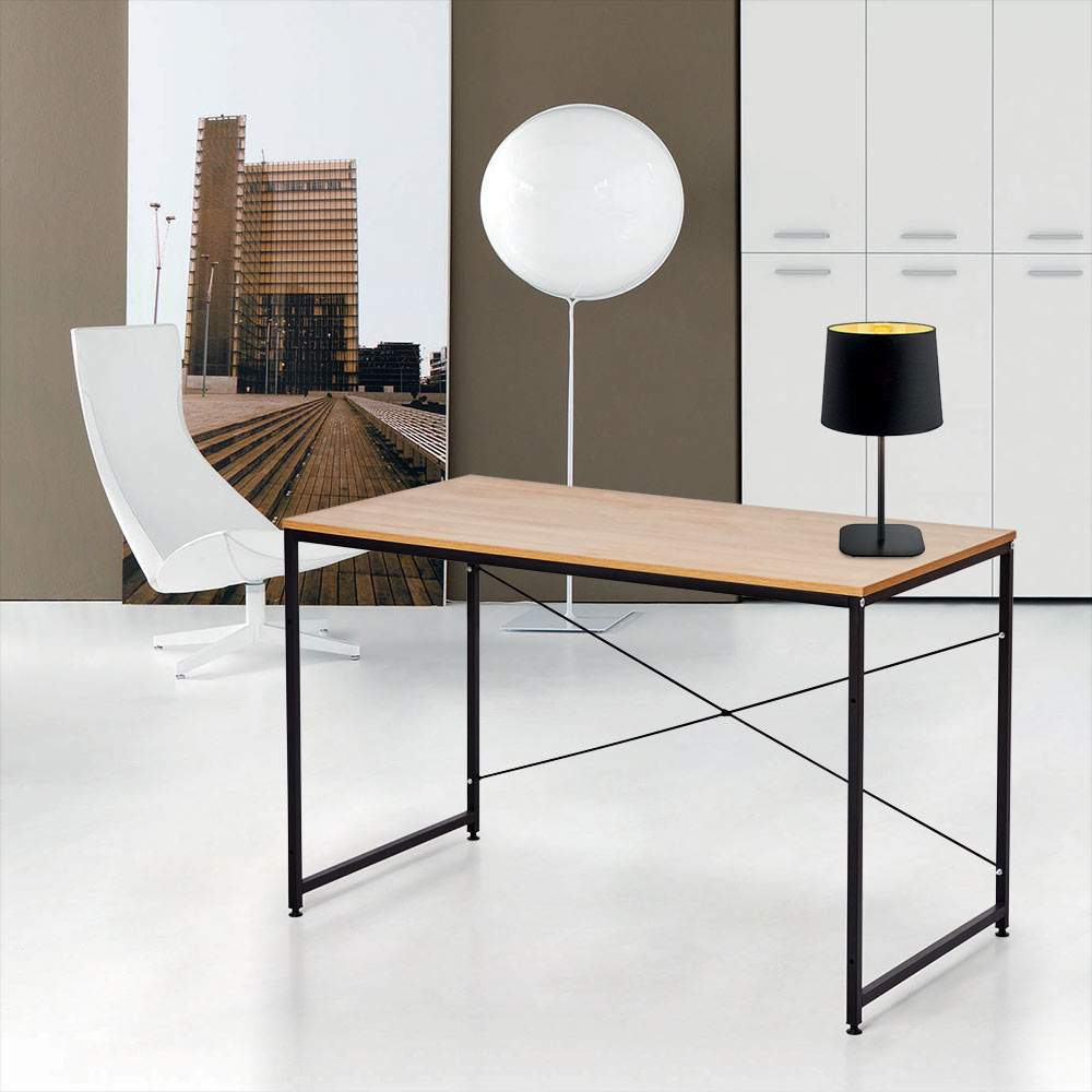 Come Organizzare La Propria Scrivania scrivania industriale 150x60 legno acciaio per studio ed ufficio wootop