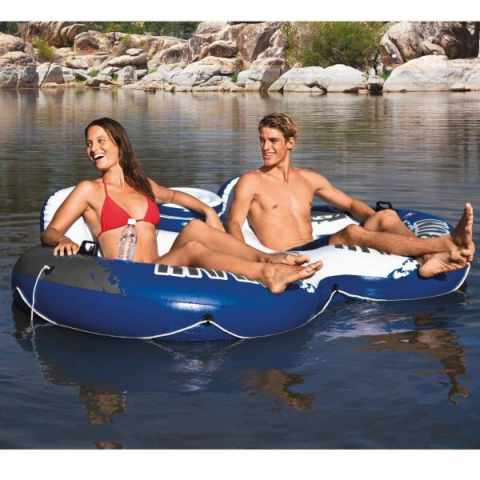intex 58837 river run 2 ciambellone doppio materassino galleggiante
