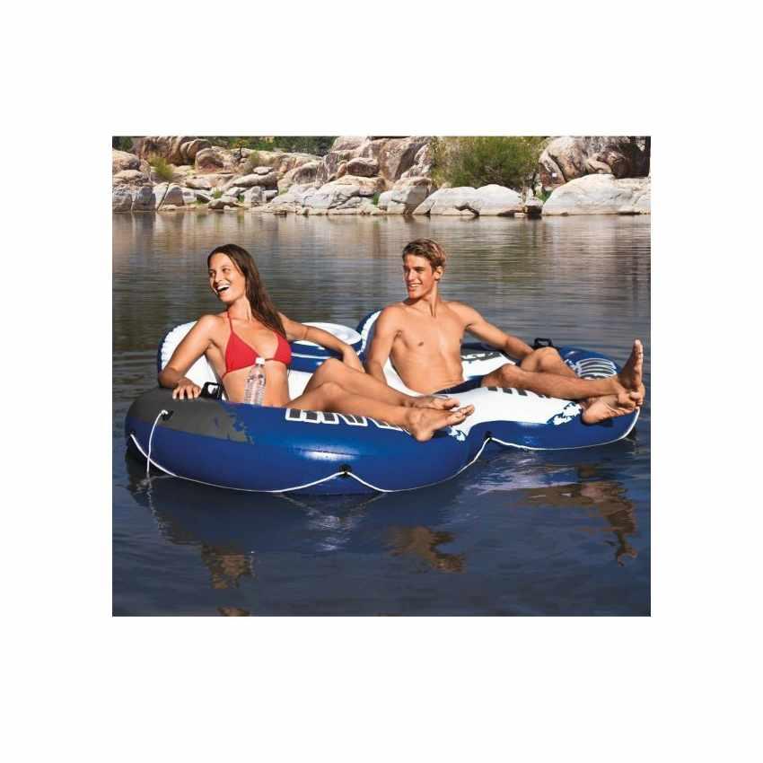 58837 - Intex 58837 River Run 2 ciambellone doppio materassino galleggiante - marrone