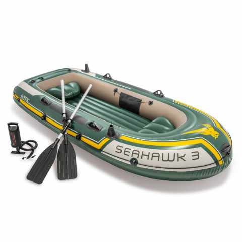 68380 - Canotto gonfiabile Intex 68380 Seahawk 3 Gommone - beige