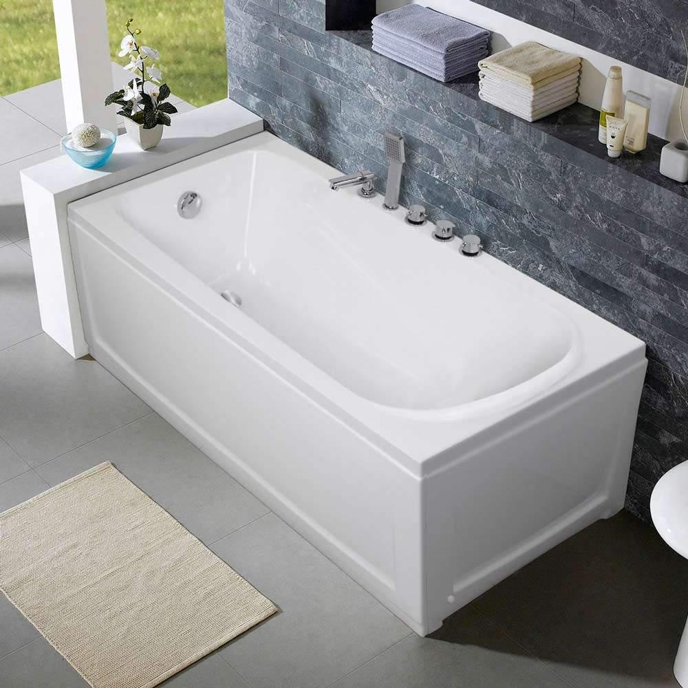 Vasca Da Bagno Enorme vasca da bagno da incasso in resina acrilica con pannelli in
