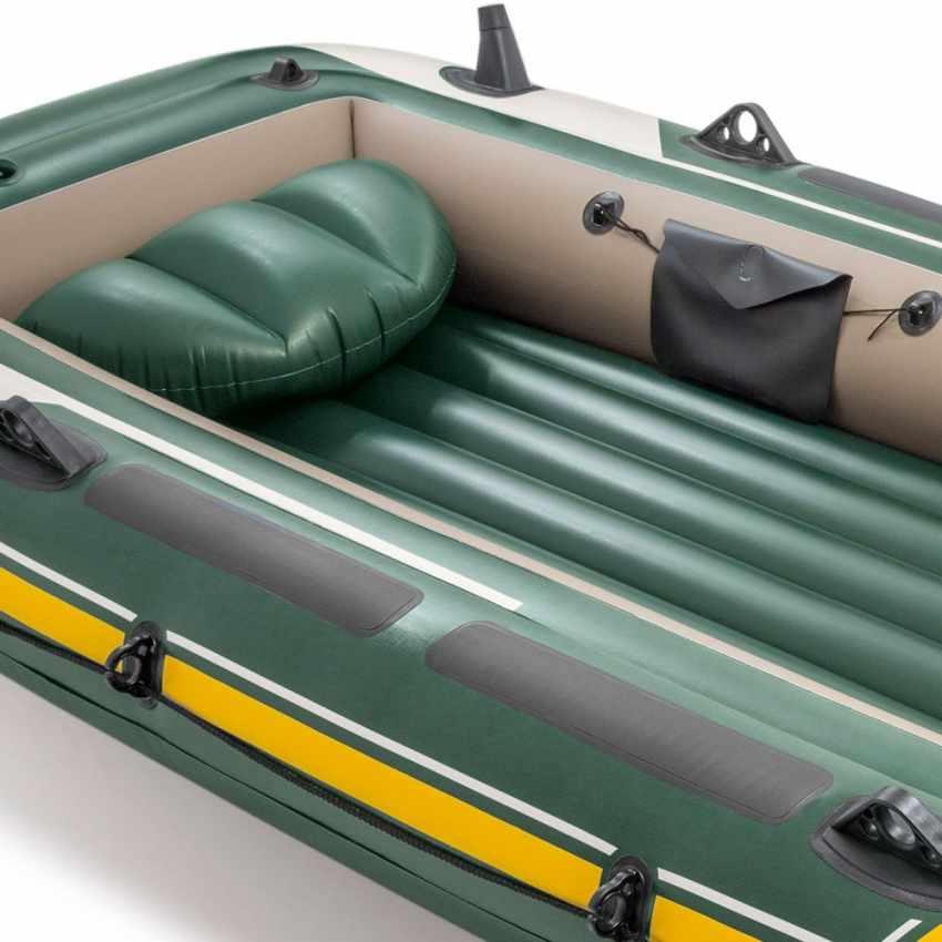 68351 - Canotto gonfiabile Intex 68351 Seahawk 4 Gommone - giallo