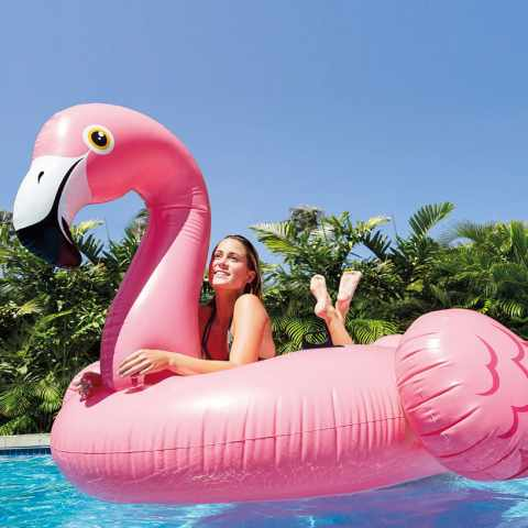 56288 - Intex 56288 materassino fenicottero rosa flamingo gigante gonfiabile galleggiante piscina feste - azzurro
