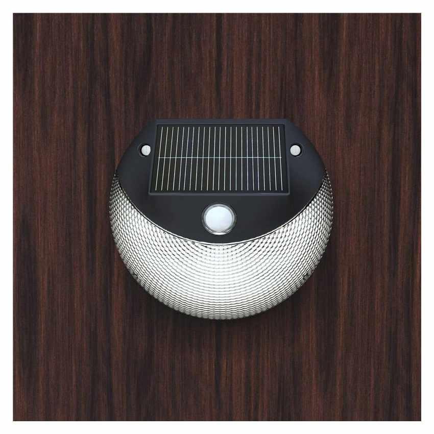 LM003LED - Lampada applique solare led muro giardino esterni MOON - outlet