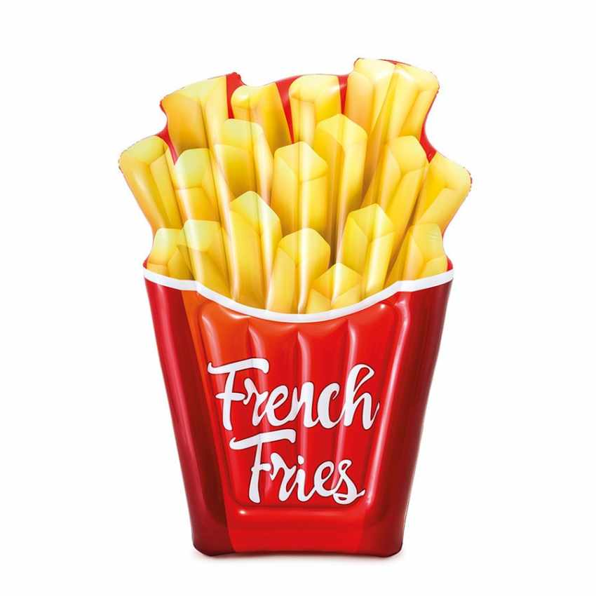 58775 - Materassino gonfiabile Intex 58775 FRENCH FRIES patatine fritte piscina mare - rosa