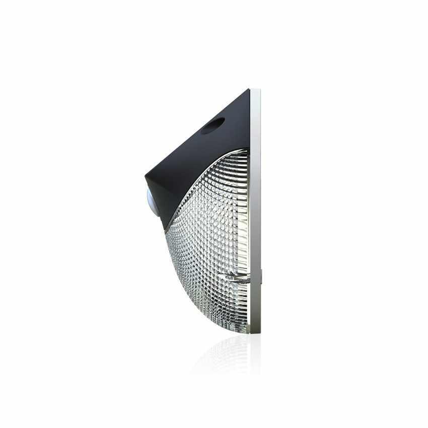 LM003LED - Lampada applique solare led muro giardino esterni MOON - fronte