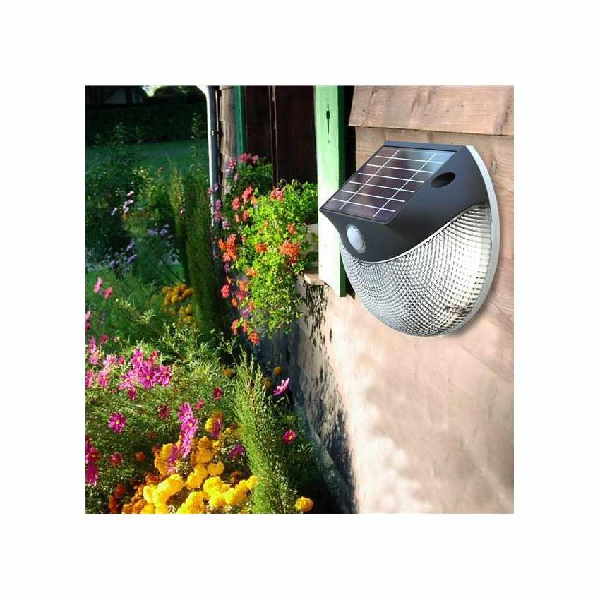 LM003LED - Lampada applique solare led muro giardino esterni MOON - basso prezzo