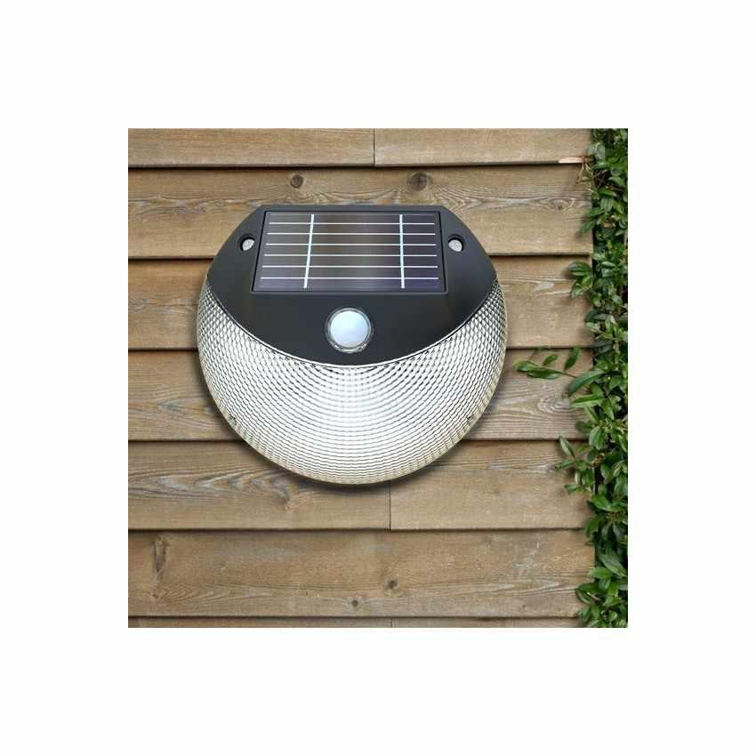 LM003LED - Lampada applique solare led muro giardino esterni MOON - rosa