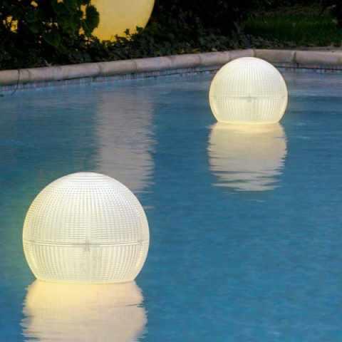 VL100LED - Lampioncino Solare a Led sferico lanterna galleggiante appendibile impermeabile GLOBE - arancione