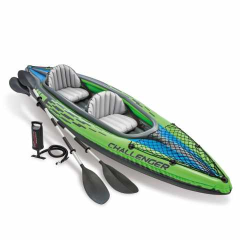68306 - Canoa Kayak Gonfiabile Intex 68306 Challenger K2 - rosso