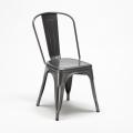 Set tavolo quadrato e sedie in metallo design Tolix industriale JAMAICA - interno