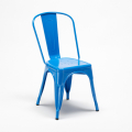 Set tavolo quadrato in legno e sedie in metallo design Tolix industriale BAY RIDGE - prezzo